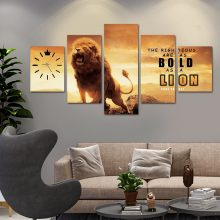LUXURY LION CANVAS WALL FRAME