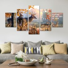 NATURAL DEER WALL FRAME CANVAS