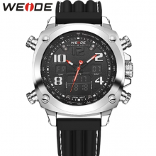 Luxury Brand WEIDE Sports Military Watches Multifunctional Japan Quartz LED Digital Movement Waterproofed Watch Men Wrist watch
