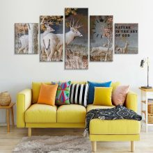 5 Panel snowing canvas wall art