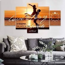 Every love story canvas wall frame